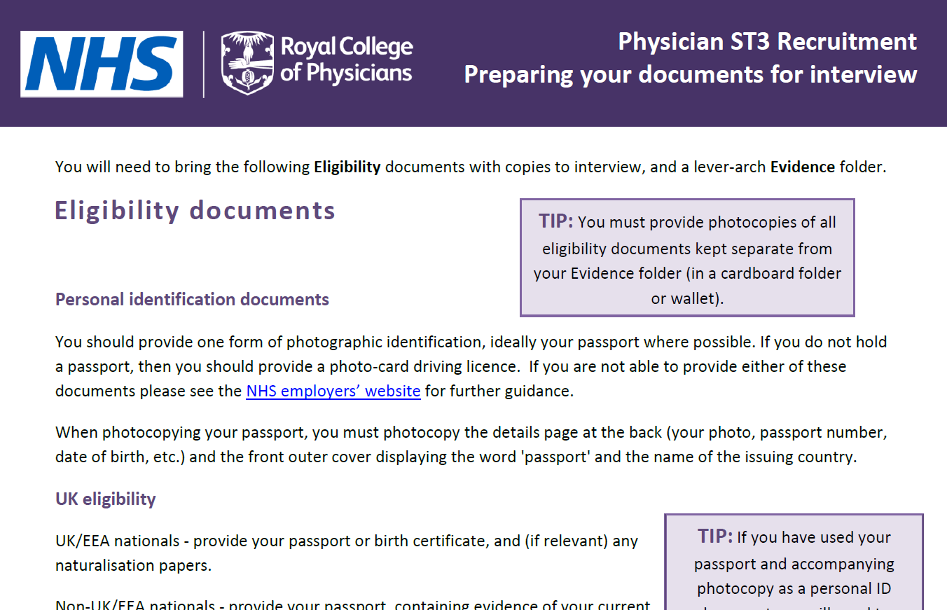 Document Library St3 Recruitment Full Comprehensive Guidance On